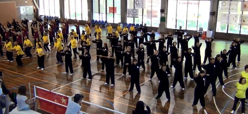 Exhibición grupal de 7 formas Health Qigong